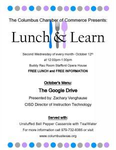 october-lunch-n-learn